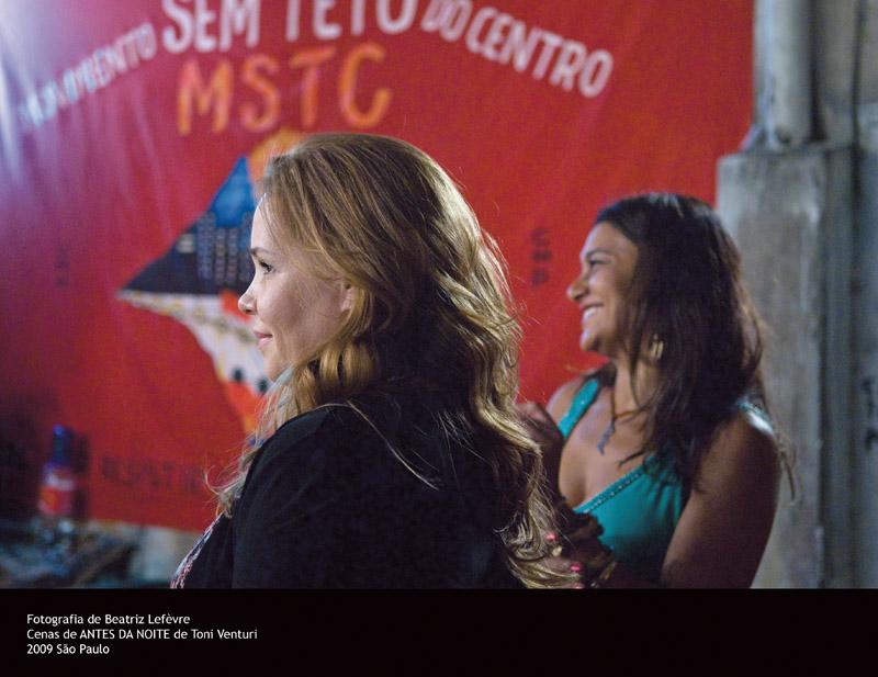 Com a atriz Debora Duboc