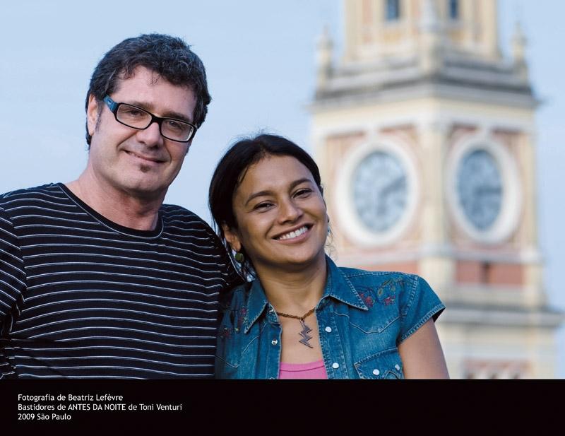 Na estação da Luz com o diretor Toni Venturi