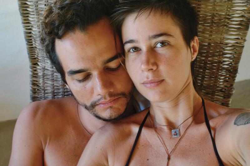 Com a mulher, a fotógrafa Sandra, que está grávida do segundo filho