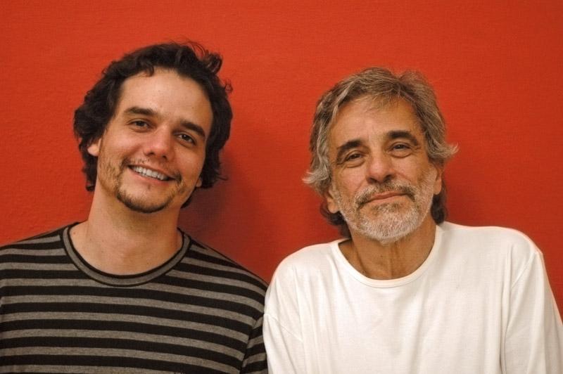 Com o diretor de Hamlet, Aderbal Freire Filho