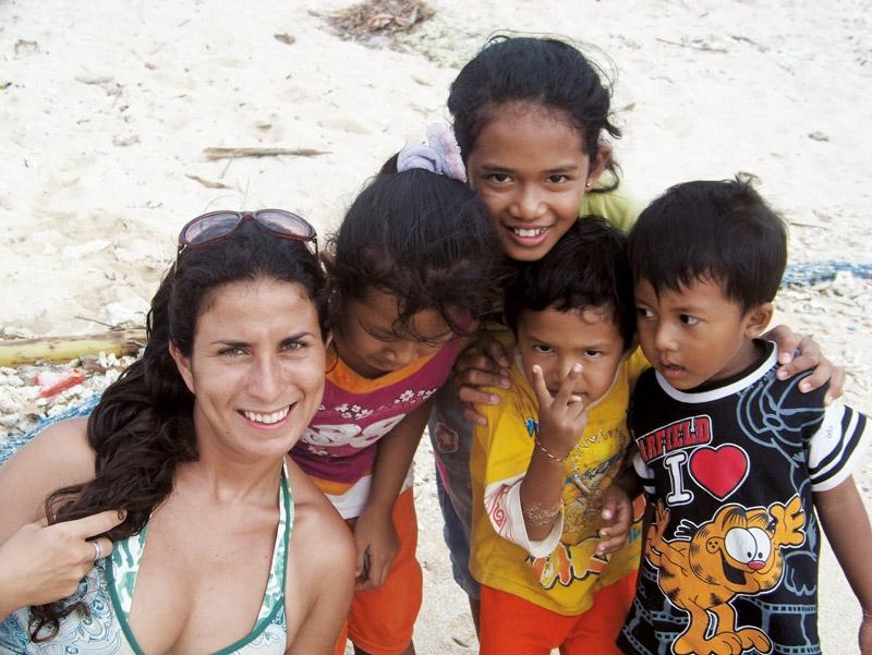 Com a criançada em Bali