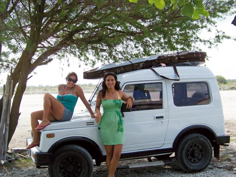 Com Virginia e Jimny, em Bali
