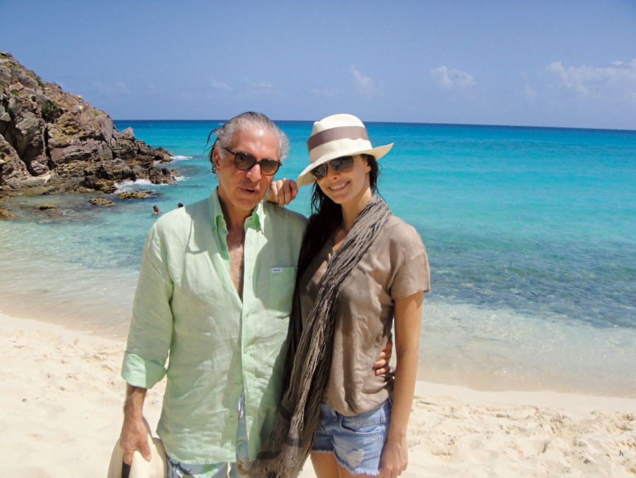 Em St. Barth, no Caribe, com Toninho, em 2009
