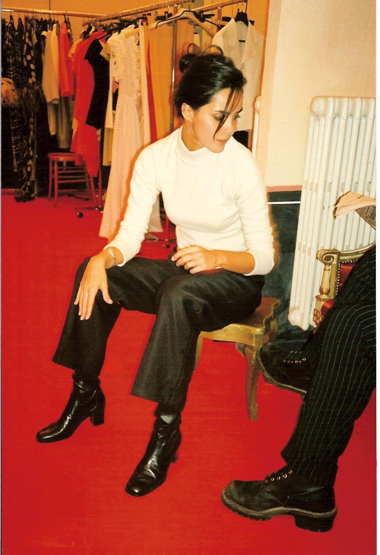 Em 1996, trabalhando no ateliê de Stephan Janson, em Milão