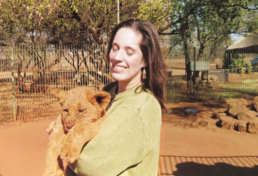 Instinto materno num safári na África do Sul, em 2009