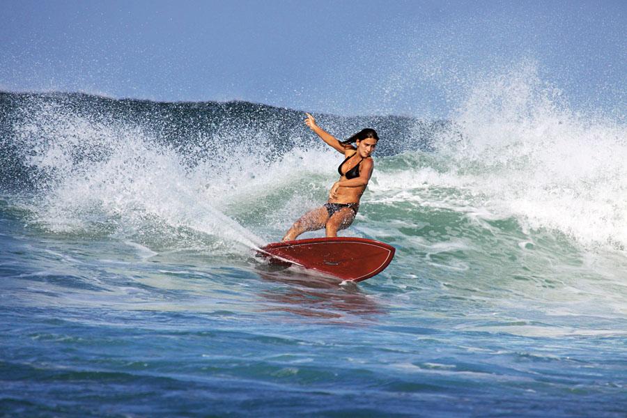 Pat dando uma rasgada em Playa Negra