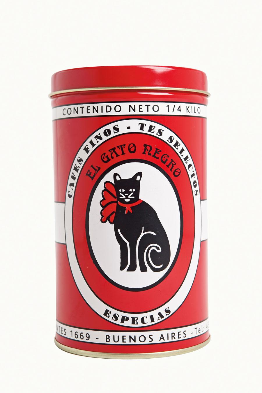 Lata - Da casa de chá El Gato Negro, de Buenos Aires.