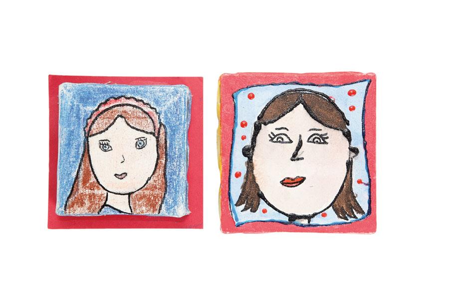 Desenhos - São autorretratos das minhas filhas.
