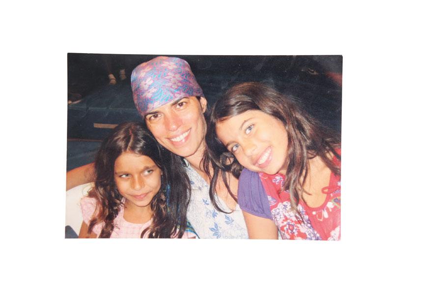 Foto - São minhas filhas, Jade e Luz, meus amuletos.