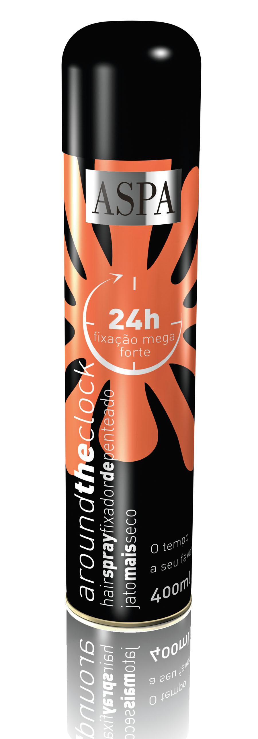 10- Aspa 24h Fixação Mega Forte Hair spray, R$ 22: efeito duradouro. Garante a modelação por mais tempo, mesmo em ambientes de alta umidade. Aspa Cosméticos 0800-0261841