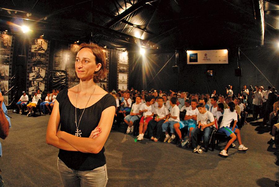 Em uma das sessões do Cine Tela Brasil, em 2008