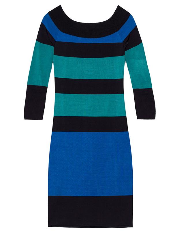 Vestido tricô bicolor, R$ 621