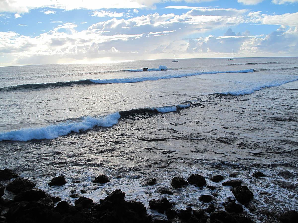 Praia de Pea Hanga Rio Rio, ondinhas perfeitas de esquerdas e direitas