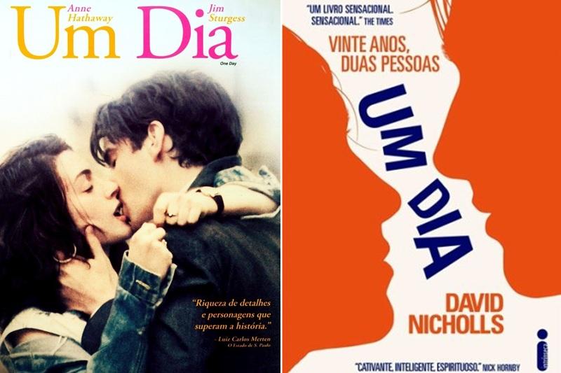 Um dia - Capa do filme e capa do livro