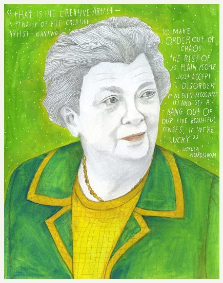 Usula Nordstrom. Nascida em Nova Iorque, foi editora de livros juvenis da Harper & Row