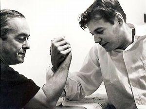 Com um de seus maiores parceiros, Tom Jobim