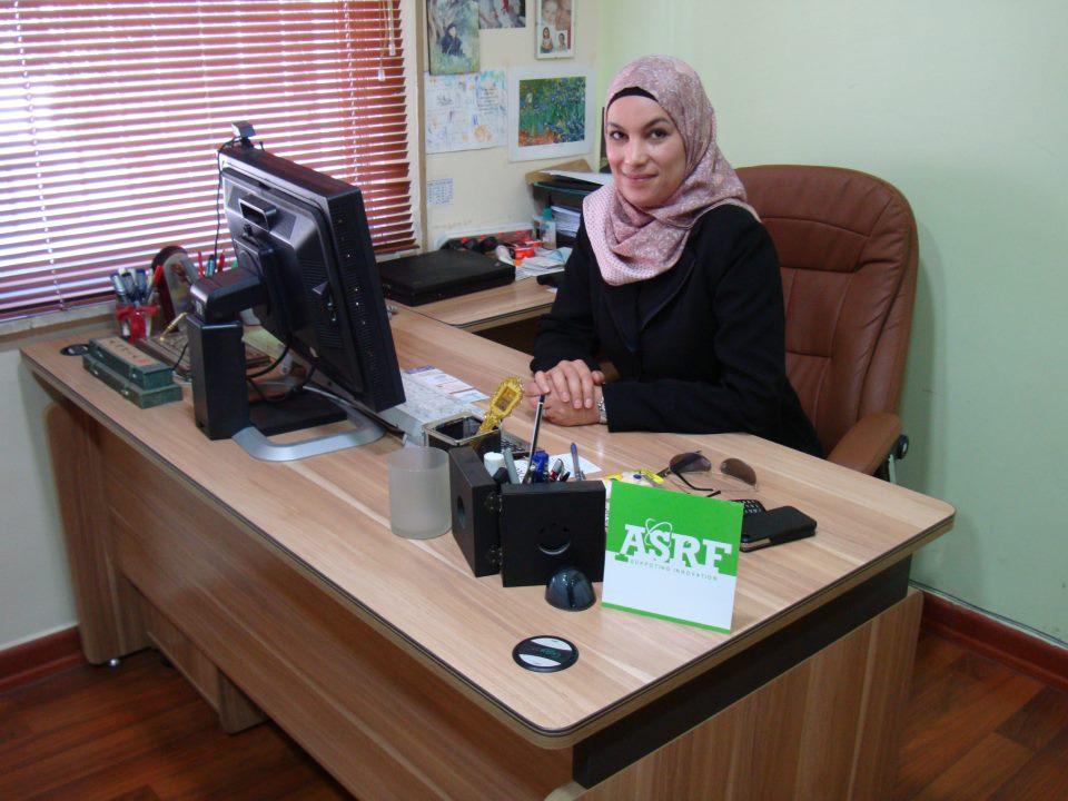 A biotecnóloga palestina Penelope Shihab