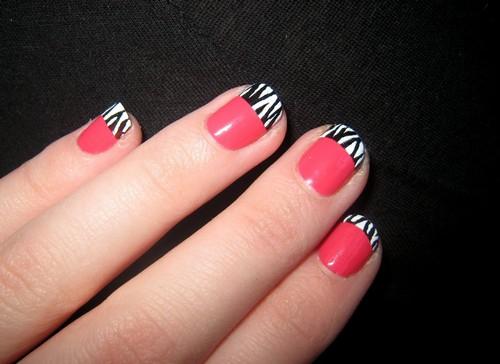 Zebra só nas pontas, estilo francesinha