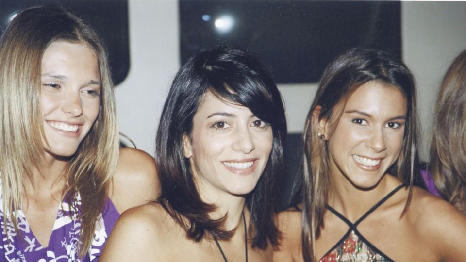 Com Fernanda Lima e Sarah Oliveira na MTV em 1999
