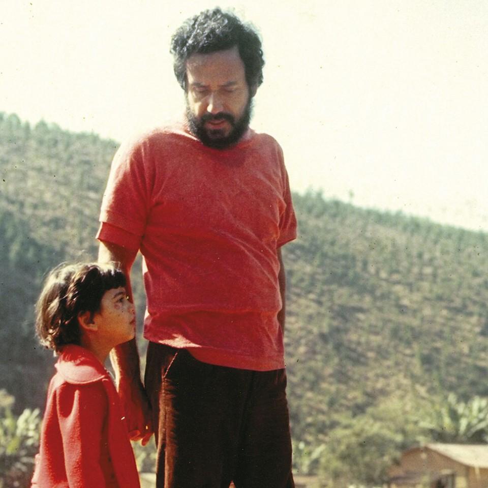 Com o pai., Luiz Sérgio Person