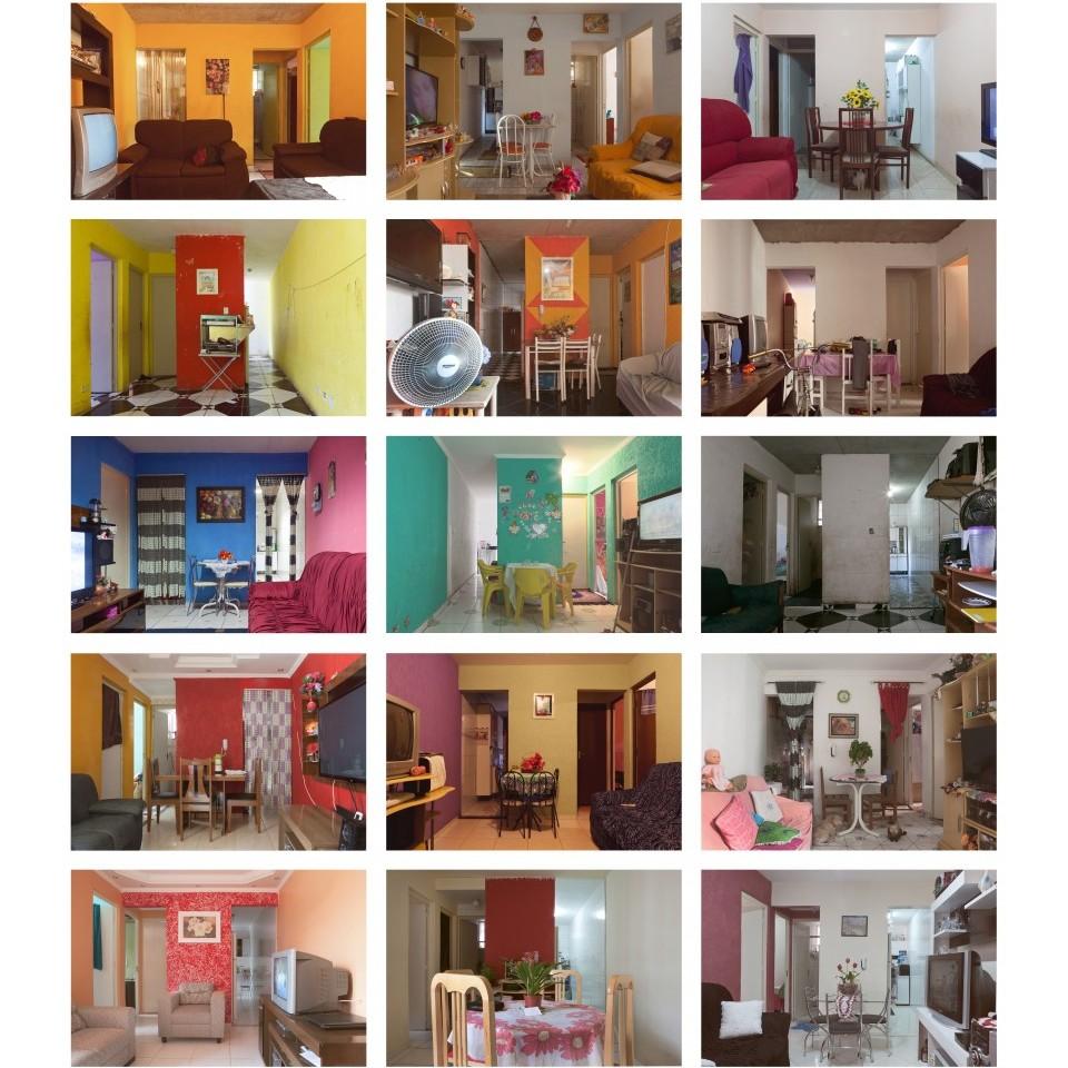 As salas fotografadas por Carol