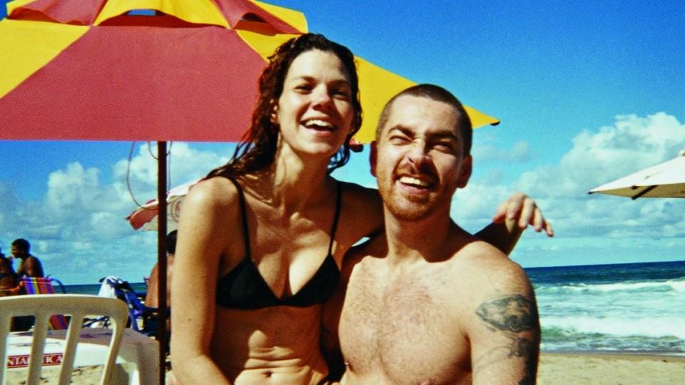 Com a esposa, Márcia, no dia em que descobriram que ela estava grávida