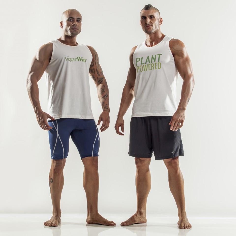 Paru (à esquerda) e Fefeu recebem patrocínio da VeganWay, marca de suplementos veganos