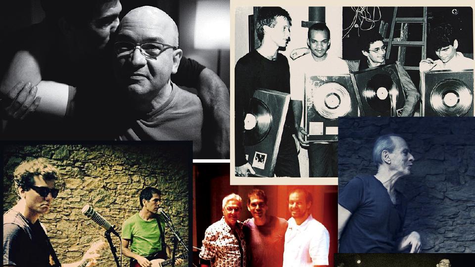 Com Hebert Viana (2015); Recebendo o disco de ouro no Morro da Urca (1987); com Wagner Moura gravando o Estúdio do Dado (2015); com Caetano e Moreno Veloso (2014); com Ney Matogrosso (2015)