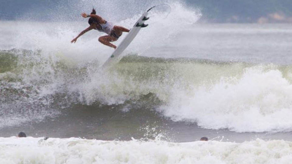 Júlia decolando