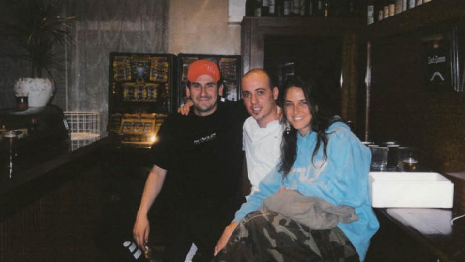 Com o então namorado Daniel e o amigo Antônio no El Celler, em 2003