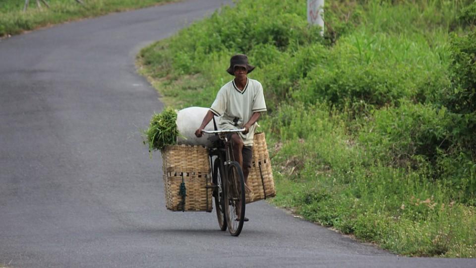Bici na Ásia rual