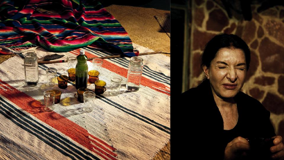 Careta ao tomar ayahuasca