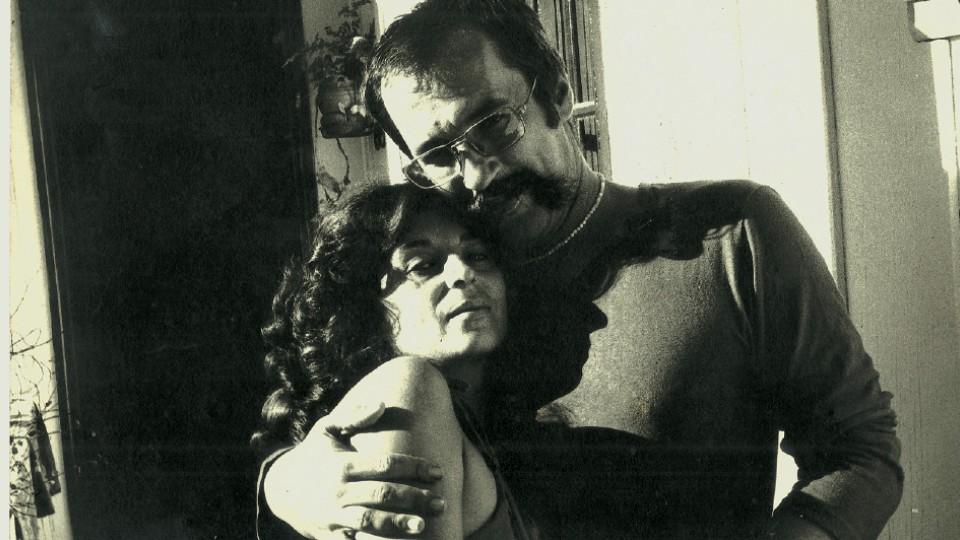 Na primeira casa do Pilarzinho com a mulher Alice Ruiz