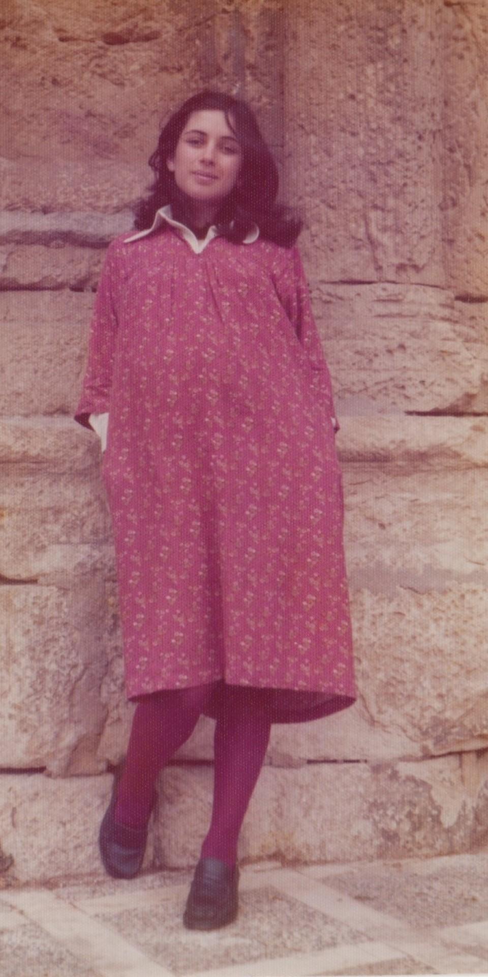 Grávida, aos 26 anos, em 1976