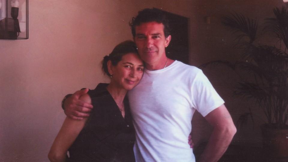 Antonio Banderas encontra Pilar em Sevilha, em 2010, para dar os pêsames pela morte de Saramago