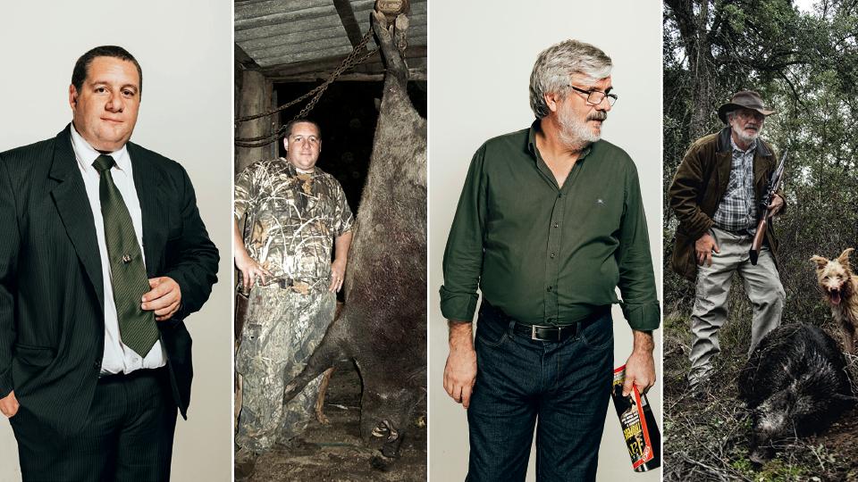 Presidente do Brasil Safari Clube, Cristian Gollo fez parte da primeira leva de controladores gaúchos; Francisco Charneca, diretor de ecologia da ONG, aprendeu a caçar em Moçambique aos 11 anos