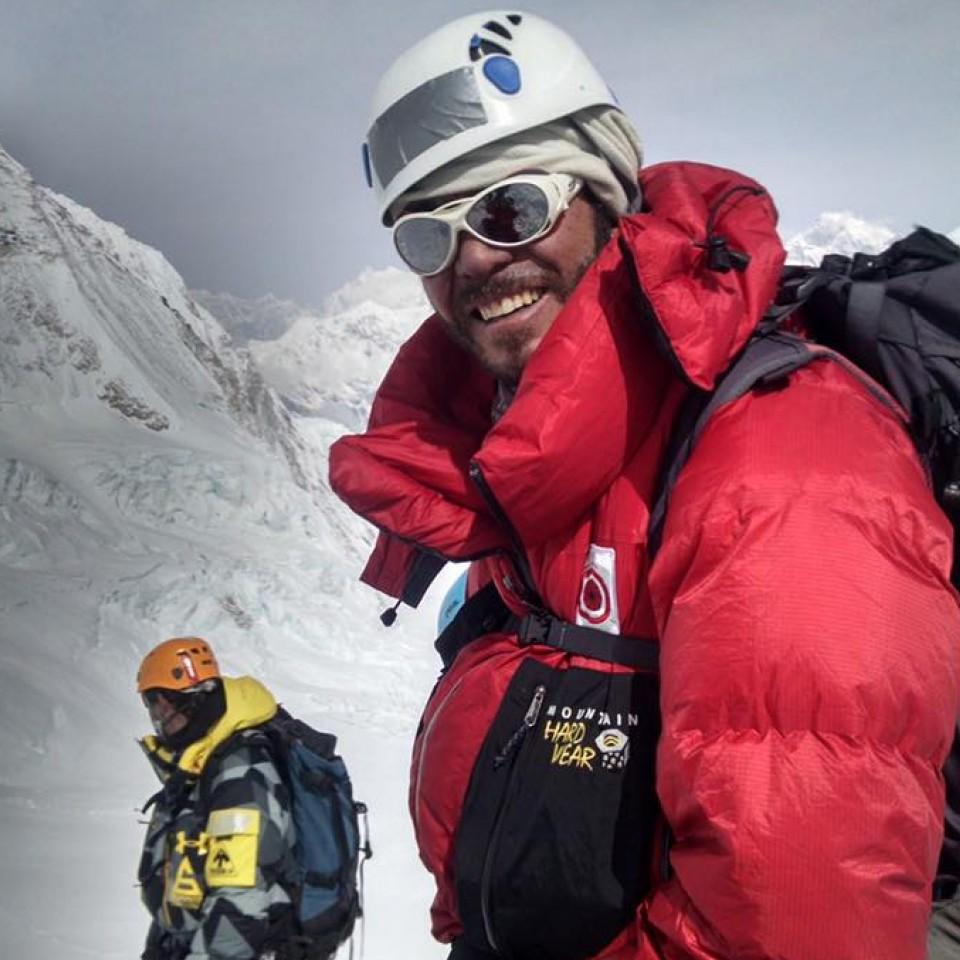 Cristiano Muller no caminho para o C3, a 7400 metros