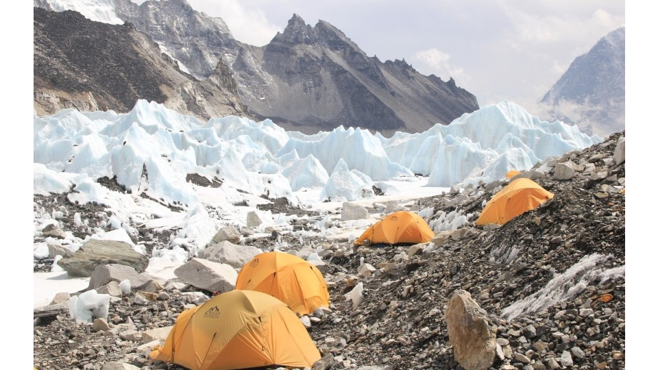 Acampamento base do Everest, a 5.340 metros