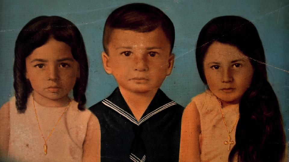 Berna (à esq.) com os irmãos Diogo e Fátima