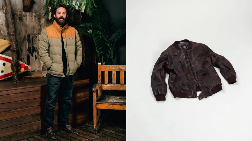 MODELO - Felipe veste: Jaqueta Patagonia; Calça Cavalera; Bota Democrata. JAQUETA - Richards R$ 2.900