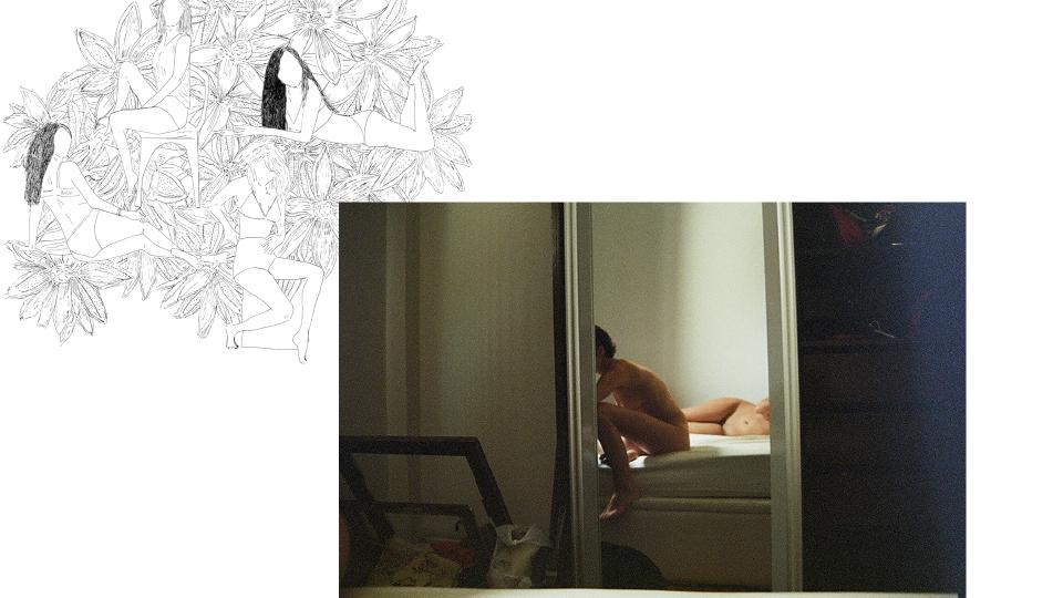 """Aqui estão Fernanda Vallois (@fernandavallois, autora deste trabalho) e Thaisa, sua namorada: """"a menina da frente é ela, sou a de trás"""". A imagem de 2013 foi feita no começo do relacionamento"""