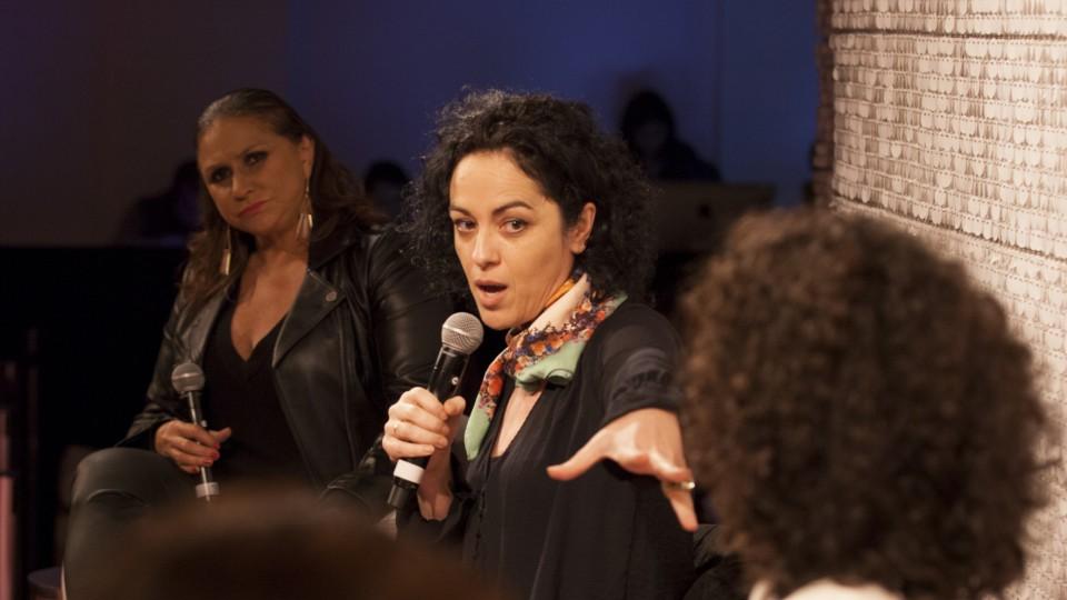 Você já foi violentada hoje? Para falar sobre o tema, Renata Leão, diretora de núcleo da Trip Editora, convidou ao palco a cantora Fafá de Belém, a roteirista Antonia Pellegrino e a filósofa Marcia Tiburi.