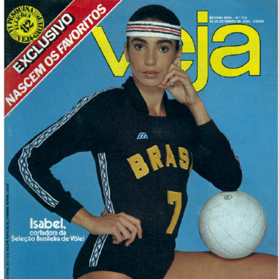 Em 1982, na capa da Veja