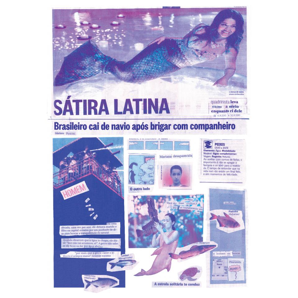 """Página da HQ """"Sátira Latina"""", de Mariana Paraizo (AKA Mazô), que também é autora do livro """"O ateneu"""""""