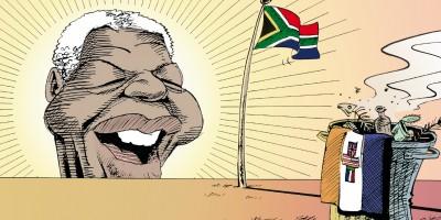 Cartunista faz humor como protesto na África do Sul