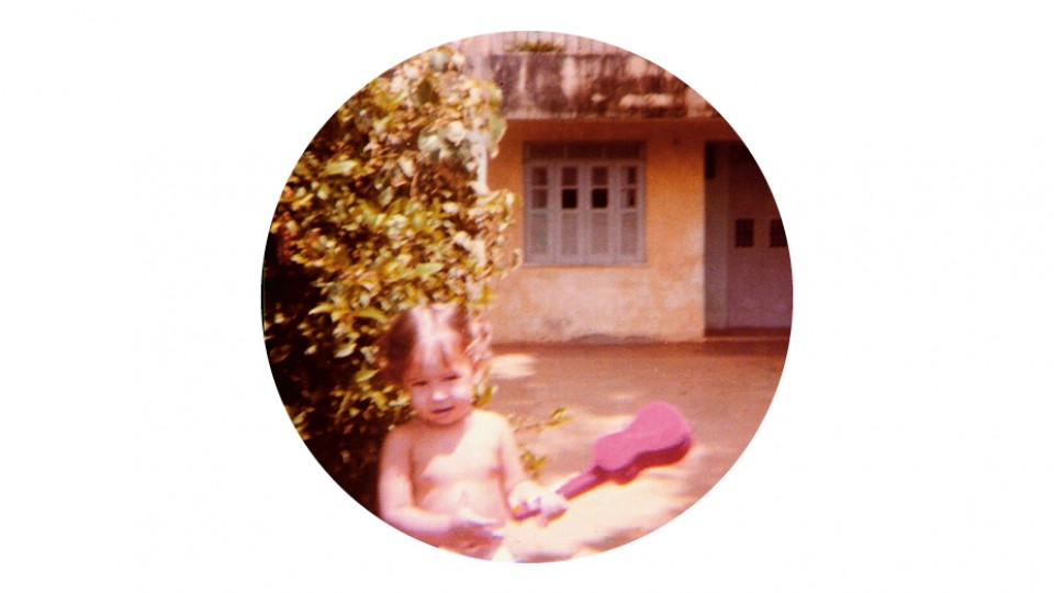 Pitty com 1 ano de idade