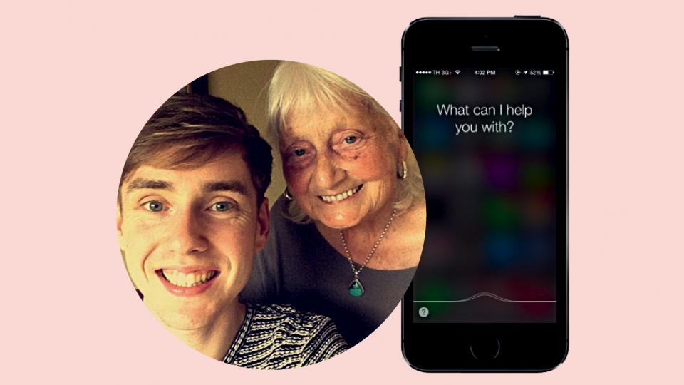 May Ashworth, que agradece ao Google, e o neto, Ben John que postou sua história