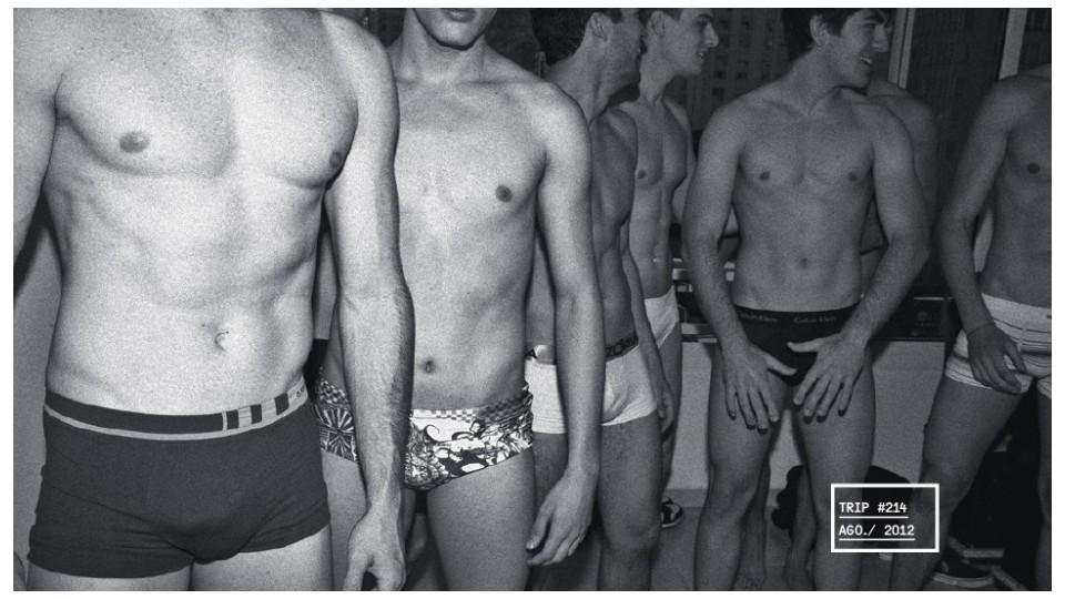 Modelos em casting para propaganda de cueca (#214)