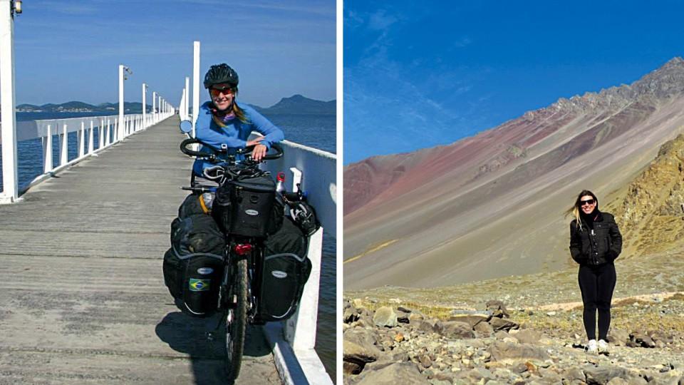 Carol Emboava  na Serra da Graciosa e em Cajon del Maipo, no Chile