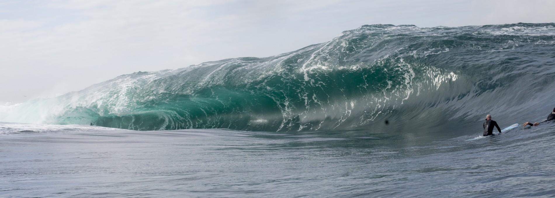 A onda rara da Teahupoo carioca